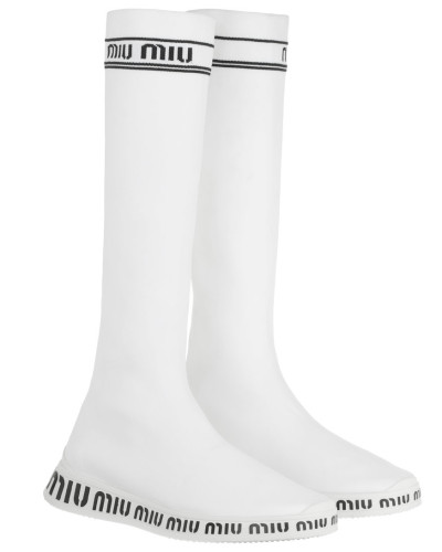 Boots Run Knit Fabric Boots White weiß