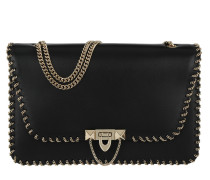 Demilune Chain Shoulder Bag Black
