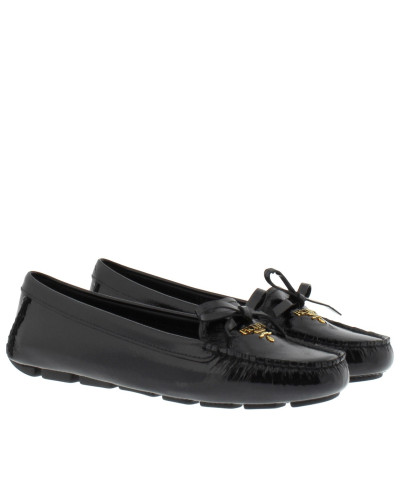 Loafers & Slippers - Calzatura Donna Loafer Vernice Saffiano Nero