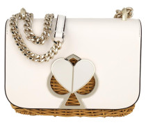 Umhängetasche Nicola Wicker Twistlock Convertible Chain Shoulder Bag Optic White