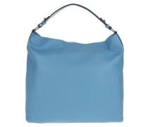 Tasche - Large Adria Hobo Bag Front Zipper Light Blue