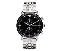 Uhr Men's Chronograph Stainless Steel Watch Silver