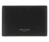 Portemonnaie Logo Print Wallet Leather Black