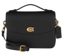 Satchel Bag Polished Pebbled Leather Cassie Crossbody Black