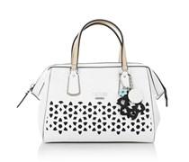 Guess Tasche - Bianco Nero Frame Satchel White - in weiß aus PVC - Henkeltasche für Damen