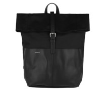 Rucksack Antonia Twill Backpack Leather Black
