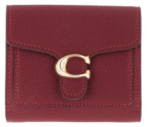 Portemonnaie Polished Pebble Tabby Small Wallet Deep Red