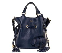 Beuteltasche Flirt Grained Leather Bucket Bag Small