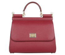 Borsa A Mano Miss Sicily Dauphine Rosso Satchel