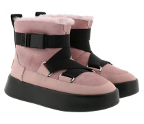 Boots W Classic Boom Buckle Pink Crystal