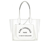 Shopper Karl Journey Transparent Tote Bag White