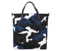 Rockstud Camouflage Tote Bag Nylon Marine/Indaco blau