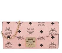 Patricia Visetos Flap Wallet Two-Fold Large Soft Pink