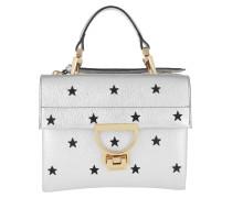 Vitello Grana Bag Star Silver/Noir