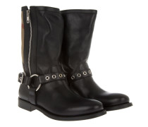 Boots & Booties - Grantvison Flat Boot Canvas Check Black