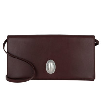 Oval Clutch Smooth Calfskin Burgundy