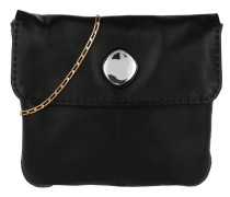 Small Croissant Flap Umhängetasche Bag Black