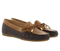 Sutton Mocassin Mini MK Logo Brown Schuhe