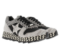 Macy Sneakers Mixed Pattern Black/White Sneakers weiß