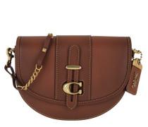 Umhängetasche Glovetanned Leather Saddle Bag Brown braun