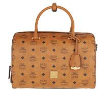 Bowling Bag Essentials Visetos Boston Top Handle Cognac