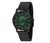 Uhren 660 43Mm 3H Green Dial Mesh Band Black SS
