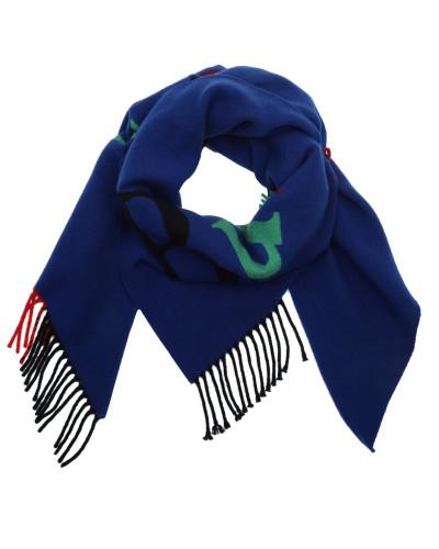 Accessoire Logo Bandana Wool Cashmere Blue blau