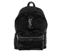Mini City Backpack Silver Sequins Black Rucksack