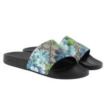 Loafers & Slippers - GG Supreme Sandal Blooms Beige/Blue