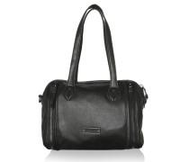 Tasche - Pretty Zip Detail Washed Tote Black