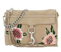 Mini Mac Floral Embroidery Sand Multi Umhängetasche