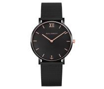 Uhr Watch Sailor Line Mesh Strap Black