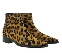 Boots & Stiefeletten Animal Print Ankle Leather