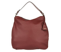 Tasche - Adria Leather Hobo Bag Oxblood