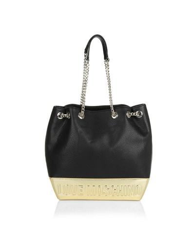 moschino damen love moschino tasche borsa soft pebble pu bucket bag. Black Bedroom Furniture Sets. Home Design Ideas