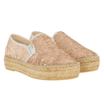 Espandrilles All Over Paillettes Rose/Silver Espadrilles rosa