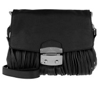 Satchel Bag Manolete Shoulder Black/Nickel