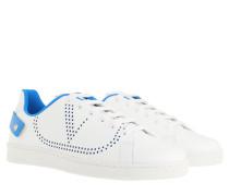 Sneakers Backnet Calfskin White Blue
