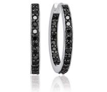 Ohrringe Corte Earrings Black Zirconia Silver