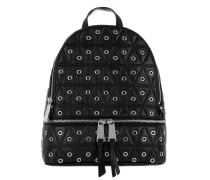 Rhea Zip MD Backpack Silver Black Rucksack