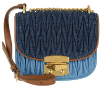 Madras Matelassé Small Flap Umhängetasche Bag Blue/Mare braun