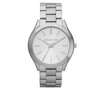 Slim Runway Watch Silver Armbanduhr