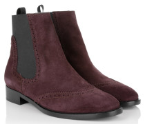 Boots & Booties - Chelsea Boots Suede Aubergine