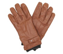 Handschuhe Elevated Flag Leather Mix Gloves Cognac