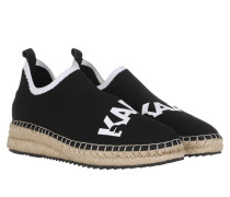 Espadrilles Kamini Sprint Knit Sneakers Black Textile/White