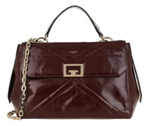 Satchel Bag Medium ID Crossbody Aged Leather Aubergine