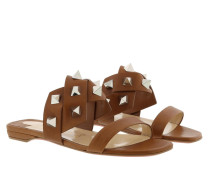Sandalen Tina In The Desert Flat Sandal Leather Cuir/Silver