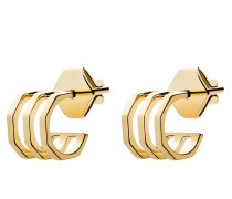 Ohrringe Ponti Studs Vermeil Polished Gold