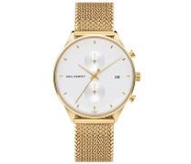 Uhr Watch Chrono Line White Sand