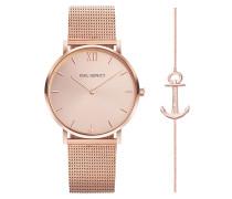 Uhr Set Perfect Match Watch Sailor Line And Anchor Spirit Rosegold